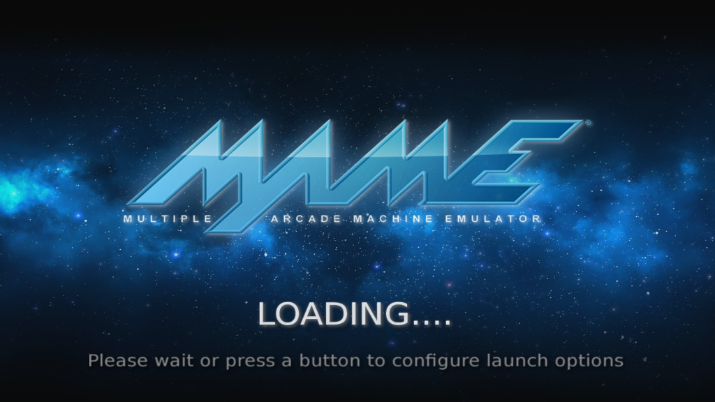 splash screen mame